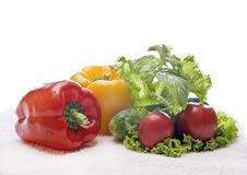 Vegetables and green Stock Photo