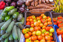 Vegetables at the greengrocer Stock Images