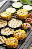 Vegetables on grill Royalty Free Stock Images