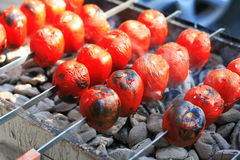 Vegetables on the grill Stock Images