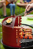 Vegetables on grill royalty free stock image