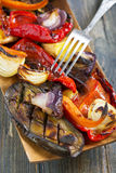 Vegetables on the grill closeup. Stock Image