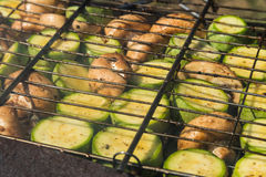 Vegetables on the grill Stock Photos