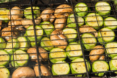 Vegetables on the grill Royalty Free Stock Image