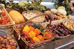 Vegetables and groceries Stock Images