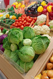 Vegetables and groceries on market Royalty Free Stock Photos