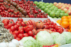 Vegetables and groceries in supermarket Stock Images