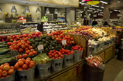 Vegetables in grocery store royalty free stock photo