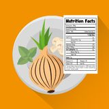 Vegetables group with nutrition facts. Vector illustration design Stock Photography