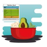 Vegetables group with nutrition facts. Vector illustration design Royalty Free Stock Photo