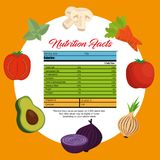 Vegetables group with nutrition facts. Vector illustration design Royalty Free Stock Photography