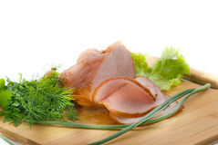 Vegetables and ham Royalty Free Stock Photos