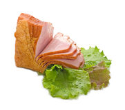 Vegetables and ham Royalty Free Stock Image