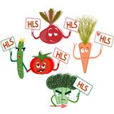 The rally of vegetables healthy food healthy lifestyle stock illustration