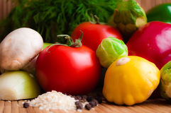 Vegetables for a healthy diet. Juicy raw vegetables for healthy dietary stock images