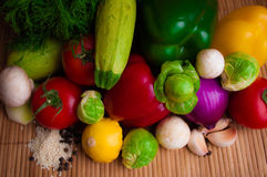 Vegetables for a healthy diet. A set of vegetables for cooking Lenten dishes royalty free stock image