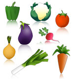 Vegetables healthy and funny Stock Photos
