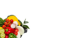Vegetables for healthy on white isolate background with clipping Stock Photos