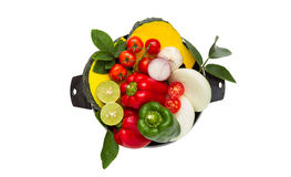 Vegetables for healthy on white isolate background with clipping Royalty Free Stock Images