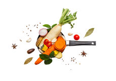 Vegetables for healthy on white isolate background with clipping Stock Photo