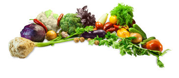 Vegetables, herbs and nuts Stock Photos