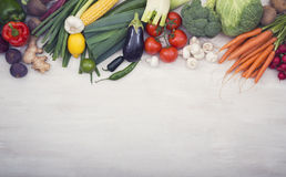Vegetables hero header Royalty Free Stock Images