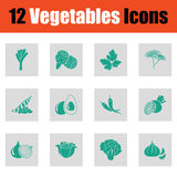 Vegetables icon set Stock Photography