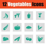 Vegetables icon set Stock Images