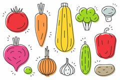 Vegetables icon set Royalty Free Stock Photos