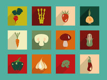 Vegetables icon set - Illustration Stock Images