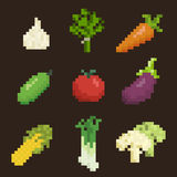 Vegetables icon set Royalty Free Stock Image