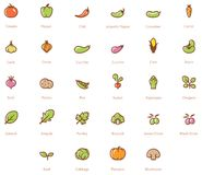 Vegetables icon set Royalty Free Stock Photos