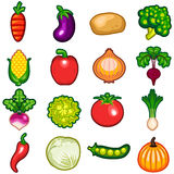 Vegetables Icon Set Royalty Free Stock Images