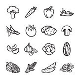 Vegetables icon set. Vector eps 10. Stock Image