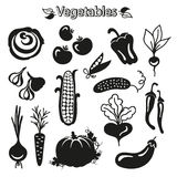 Vegetables icon set Royalty Free Stock Photo
