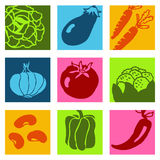 Vegetables icons 1 Royalty Free Stock Photography