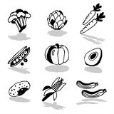 Vegetables icons 2 Stock Image