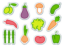 Vegetables icons Royalty Free Stock Photo