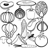Vegetables icons Stock Image
