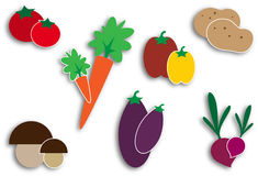 Vegetables icons Stock Photos