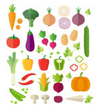 Vegetables Icons - Background Royalty Free Stock Photography