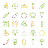 Vegetables  icons , flat design Stock Photo