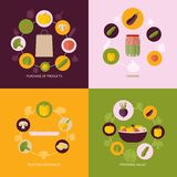 Vegetables icons flat set Royalty Free Stock Photography