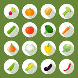 Vegetables Icons Flat Set Royalty Free Stock Images