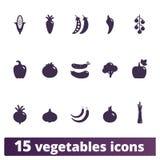 Vegetables Icons Flat Vector Set stock illustration
