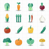 Vegetables icons. This image is a vector illustration Stock Photo