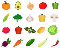 Vegetables icons set . Stock Photo
