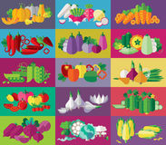 Vegetables icons set (+EPS 10) Royalty Free Stock Images