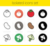 Vegetables icons set Stock Photo