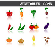 Vegetables Icons Symbol Vector Illustration Royalty Free Stock Images